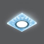 Светильник Gauss Backlight BL065 Квадрат. Белый/Серебро/Хром, Gu5.3, LED 4100K 1/40
