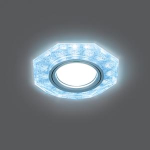 Светильник Gauss Backlight BL066 Восемь гран. Белый/Серебро/Хром, Gu5.3, LED 4100K 1/40