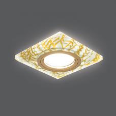 Светильник Gauss Backlight BL074 Квадрат. Золотой узор/Золото, Gu5.3, LED 2700K 1/40