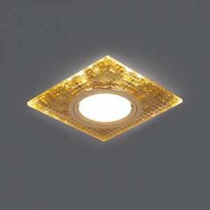 Светильник Gauss Backlight BL077 Квадрат. Золото/Кристалл/Золото, Gu5.3, LED 2700K 1/40