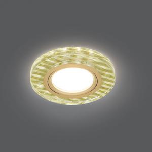 Светильник Gauss Backlight BL080 Круг гран. Золотые нити/Золото, Gu5.3, LED 2700K 1/40