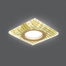 Светильник Gauss Backlight BL081 Квадрат. Золотые нити/Золото, Gu5.3, LED 2700K 1/40