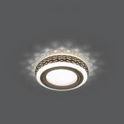 Светильник Gauss Backlight BL082 Кругл. Бронза/Белый, Gu5.3, 3W, LED 3000K 1/30
