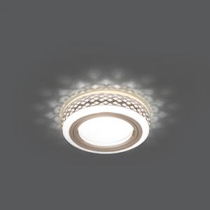 Светильник Gauss Backlight BL083 Кругл. Белый/Белый, Gu5.3, 3W, LED 3000K 1/30