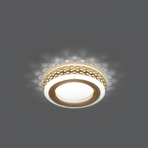 Светильник Gauss Backlight BL084 Кругл. Золото/Белый, Gu5.3, 3W, LED 3000K 1/30