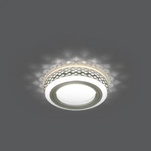 Светильник Gauss Backlight BL085 Кругл. Хром/Белый, Gu5.3, 3W, LED 3000K 1/30