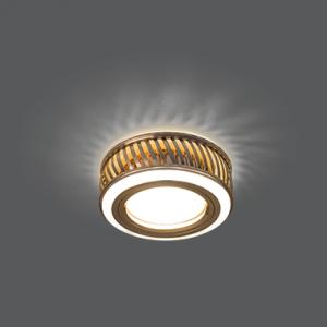 Светильник Gauss Backlight BL088 Кругл. Золото/Белый, Gu5.3, 3W, LED 3000K 1/30