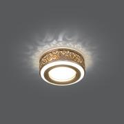Светильник Gauss Backlight BL092 Кругл. Золото/Белый, Gu5.3, 3W, LED 3000K 1/30