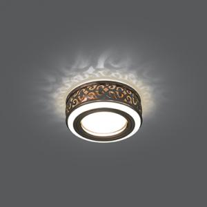 Светильник Gauss Backlight BL093 Кругл. Бронза/Белый, Gu5.3, 3W, LED 3000K 1/30
