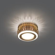 Светильник Gauss Backlight BL096 Кругл. Золото/Белый, Gu5.3, 3W, LED 3000K 1/30