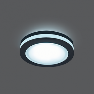 Светильник Gauss Backlight BL107 Кругл. Черный, 5W, LED 4000K 1/60