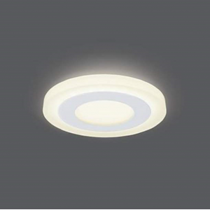 Светильник Gauss Backlight BL114 Кругл. Акрил, 3+3W, LED 3000K, Ø105, 1/40