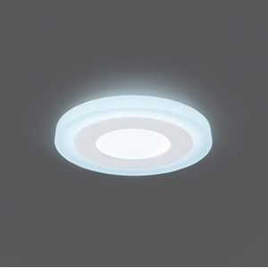 Светильник Gauss Backlight BL115 Кругл. Акрил, 3+3W, LED 4000K, Ø105, 1/40