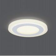 Светильник Gauss Backlight BL116 Кругл. Акрил, 6+3W, LED 3000K, Ø145, 1/40