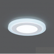 Светильник Gauss Backlight BL117 Кругл. Акрил, 6+3W, LED 4000K, Ø145, 1/40