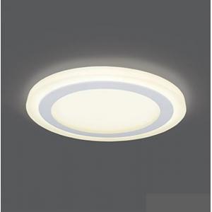 Светильник Gauss Backlight BL118 Кругл. Акрил, 12+4W, LED 3000K, Ø190, 1/20