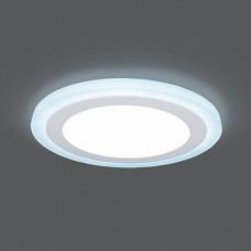 Светильник Gauss Backlight BL119 Кругл. Акрил, 12+4W, LED 4000K, Ø190, 1/20