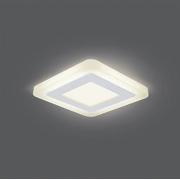 Светильник Gauss Backlight BL120 Квадрат. Акрил, 3+3W, LED 3000K, 105*105, 1/40
