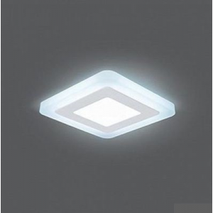 Светильник Gauss Backlight BL121 Квадрат. Акрил, 3+3W, LED 4000K, 105*105, 1/40