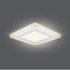 Светильник Gauss Backlight BL122 Квадрат. Акрил, 6+3W, LED 3000K, 145*145, 1/40