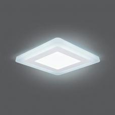 Светильник Gauss Backlight BL123 Квадрат. Акрил, 6+3W, LED 4000K, 145*145, 1/40