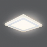 Светильник Gauss Backlight BL124 Квадрат. Акрил, 12+4W, LED 3000K, 190*190, 1/20