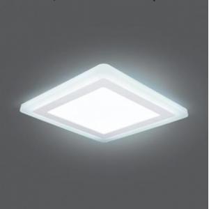 Светильник Gauss Backlight BL125 Квадрат. Акрил, 12+4W, LED 4000K, 190*190, 1/20