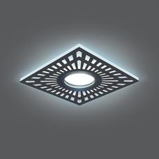 Светильник Gauss Backlight BL126 Квадрат. Белый, Gu5.3, 3W, LED 4000K 1/40