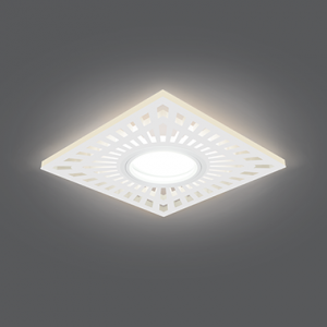 Светильник Gauss Backlight BL127 Квадрат. Белый, Gu5.3, 3W, LED 3000K 1/40