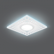 Светильник Gauss Backlight BL128 Квадрат. Белый, Gu5.3, 3W, LED 4000K 1/40