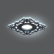 Светильник Gauss Backlight BL129 Квадрат/узор. Черный, Gu5.3, 3W, LED 4000K 1/40