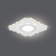 Светильник Gauss Backlight BL131 Квадрат/узор. Белый, Gu5.3, 3W, LED 3000K 1/40