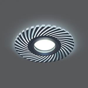 Светильник Gauss Backlight BL132 Кругл./узор. Черный, Gu5.3, 3W, LED 4000K 1/40