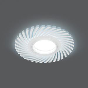 Светильник Gauss Backlight BL133 Кругл./узор. Белый, Gu5.3, 3W, LED 4000K 1/40