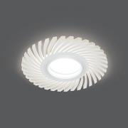Светильник Gauss Backlight BL134 Кругл./узор. Белый, Gu5.3, 3W, LED 3000K 1/40
