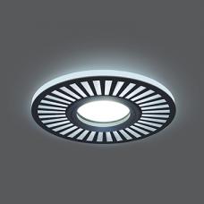 Светильник Gauss Backlight BL135 Кругл./узор. Черный, Gu5.3, 3W, LED 4000K 1/40