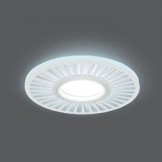 Светильник Gauss Backlight BL136 Кругл./узор. Белый, Gu5.3, 3W, LED 4000K 1/40