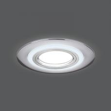 Светильник Gauss Backlight BL141 Кругл. Хром. Gu5.3, 3W, LED 3000K 1/40