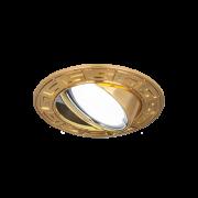 Светильник Gauss Metal CA019 Круг. Золото, Gu5.3 1/100