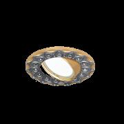 Светильник Gauss Strass CA023 Круг. Черный/Золото, Gu5.3 1/100