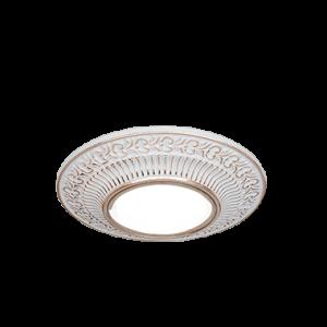 Светильник Gauss Antique CA025 Круг. Белый/Золото, Gu5.3 1/100