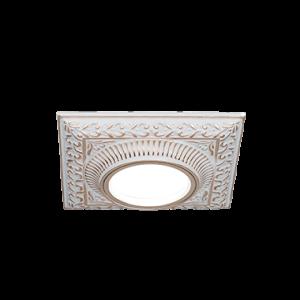 Светильник Gauss Antique CA028 Квадрат Белый/Золото, Gu5.3 1/50