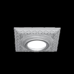 Светильник Gauss Antique CA029 Квадрат Белый/Серебро, Gu5.3 1/50