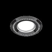 Светильник Gauss Strass CA033 Круг. Кристал/Черный, Gu5.3 1/30