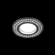 Светильник Gauss Strass CA035 Круг. Кристал/Черный, Gu5.3 1/30