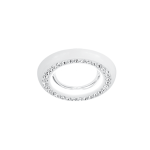 Светильник Gauss Strass CA037 Круг. Кристал/Белый, Gu5.3 1/30
