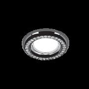Светильник Gauss Strass CA038 Круг. Кристал/Черный, Gu5.3 1/30