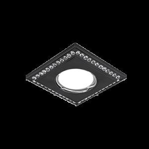 Светильник Gauss Strass CA041 Квадрат. Кристал/Черный, Gu5.3 1/30