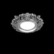 Светильник Gauss Antique CA051 Круг. Серебро/Черный Gu5.3 1/40