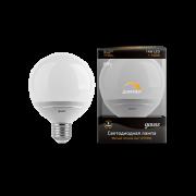 Лампа Gauss LED G95-dim 14W E27 2700K диммируемая 1/10/40